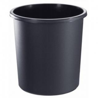 Корзина офисная 18л пластик, черная