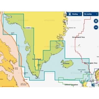 Карта Navionics+ Гренландия и Исландия (20XG)