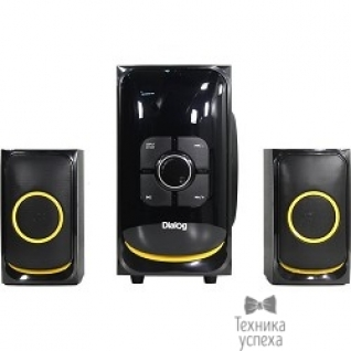 Dialog Dialog Progressive AP-208 BLACK - акустические колонки 2.1, 30W+2*15W RMS,Bluetooth,FM,USB+SD reader