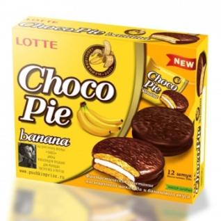 Пирожное Lotte ChocoPie банан, 336г