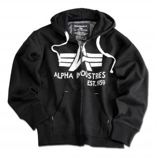 """Alpha Industries Толстовка Alpha Industries с большим """"A"""", молния, цвет черный"""
