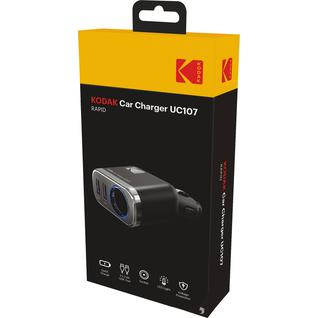 Автомобильное зарядное устройство KODAK UC107(2 USB, Quick Charge 3.0)