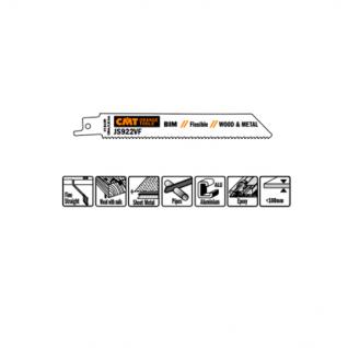 Пилки сабельные СМТ 5 штук для дерева и металла(BIM) 150x1,8-2,6x10-14TPI JS922VF-5