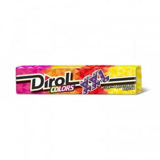 Жевательная резинка DIROL Colors XXL ассорти фрукт.вкус б/с, 18штх19г