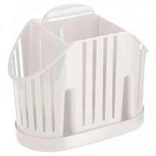 Сушилка для столовых приборов 3-х секционная белая М-1160