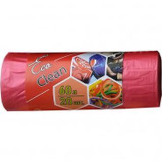 Мешки для мусора ПНД 60л.58х68см,10мкм. красный, 20шт/рул