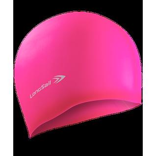 Шапочка для плавания, силикон, розовый Longsail