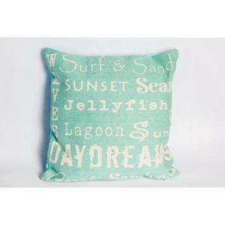 Подушка декоративная Sunset бирюзовая