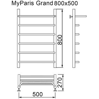 Полотенцесушитель MYFREA My Paris (Grand) 80/50