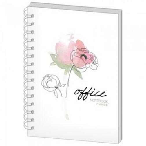 Бизнес-тетрадь 60л,кл,А5,Office Flowers,тв.пер,спир,УФ(СВА5-60OF) 37850261 1