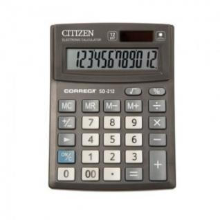 Калькулятор настольный КОМПАКТНЫЙ CITIZEN BusinessL CMB1201-BK 12разр.Чер