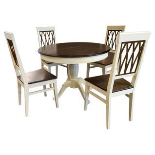 Обеденная группа для столовой и гостиной АВРОРА Леонардо стол + 4 стула Кристиан