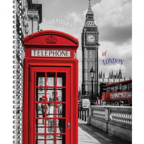 Тетрадь общая 80 л. кл. А4 формат London греб. арт. ТО80А49375 37874424