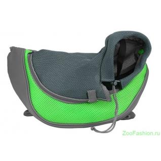 Сумка-слинг для собак зеленая ( )