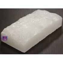 Кирпич белой гималайской соли 200х100х50 мм (одна сторона натуральная, арт. SZ1RW)