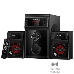Sven SVEN (AC) MS-302, черный (40 Вт, FM-тюнер, USB/SD, дисплей, ПДУ)