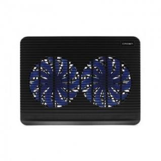 Подставка для ноутбука Crown, охлажд, до 17 дюймов, 2 вент, черн,CMLC-1101