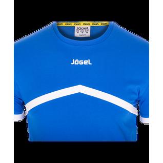 Футболка тренировочная детская Jögel Jct-1040-071, хлопок, синий/белый, детская размер YL