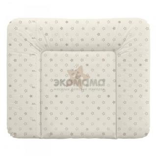 Пеленальный матрац 70x85 см Ceba Baby мягкий на комод - W-134-066-111 Stars Beige