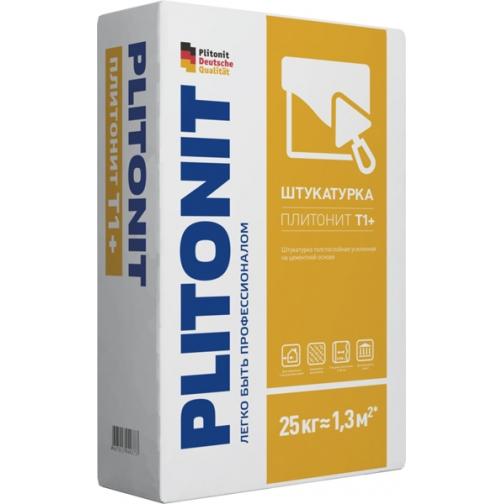 ПЛИТОНИТ Т1+ штукатурка цементная (25кг) / PLITONIT Т1+ штукатурка толстослойная цементная усиленная (25кг) Плитонит 36984096