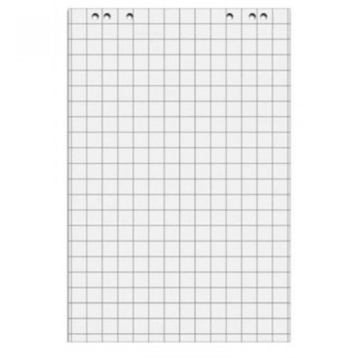 Блок бумаги для флипчартов клетка 67,5х98 20 лист. 5 бл/уп 80гр. 37849992