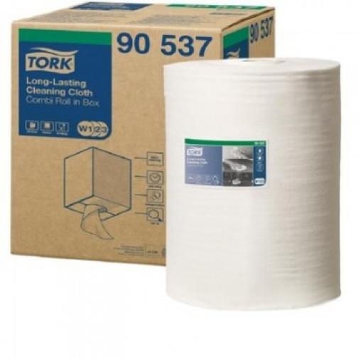 Материал протирочный нетканый Tork W1/W2/W3 300лx1рул/кор, белый 90537 37862922