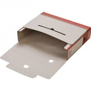 Короб АрхивныйATTACHE,75 мм,переплетный картон,красн