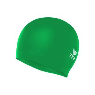 Шапочка для плавания Tyr Wrinkle Free Junior Silicone Cap, силикон, Lcsjr/326, зеленый