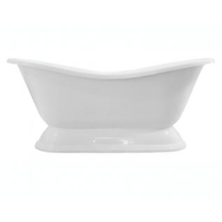 Отдельно стоящая ванна Эстет Бостон на подиуме белая