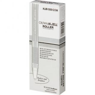 Ручка гелевая серебро металлик CROWN, 0,7мм