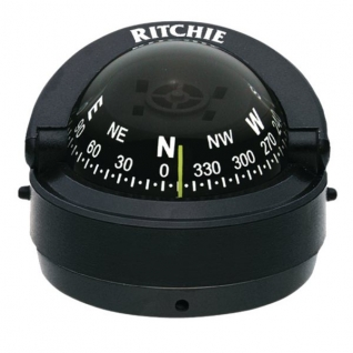 Ritchie Navigation Компас с конической картушкой Ritchie Navigation Explorer S-53 чёрный 70 мм 12 В устанавливается на поверхность