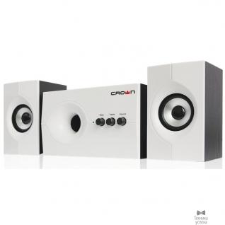 Crown Акустическая система 2.1 CROWN CMS-350 ( Белая лицевая панель; МДФ, 15W+10WX 2=35W,Длина кабеля питания и аудио кабеля 2м;,Управление: питание, громкость, басс, высокие частоты.)