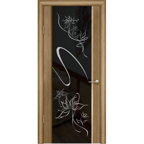 Дверь ульяновская шпонированная Альмека со стеклом триплекс 49378 3