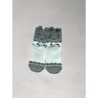Ф002 носки детские серый кошка Фенна (12-18) (12)