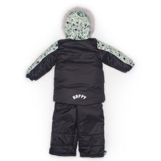 Комплект MalekBaby (Куртка + Полукомбинезон), С опушкой, №124/1 (Наушники+серый) арт.409ШМ/2