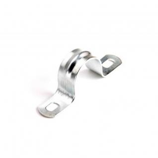 Экопласт Скоба оцинкованная Экопласт с двумя отверстиями, для трубы диаметр 20 мм., упаковка 100 шт