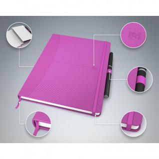 Блокнот OXFORD SIGNATURE А5 80л лин.фикс.рез,тв.обл,карман,розов 100735231