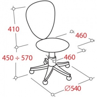 Кресло UP_Астек б/п ПВМ С-11, ткань черный (Астек)
