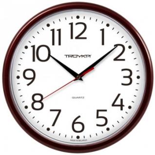 Часы настенные Troyka 91931912 круг., d225мм, плав.ход, пластик