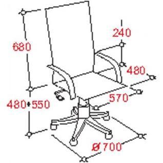 Кресло BN_Dp_Руководителя EChair-515 RT рецикл.кожа черная,