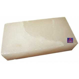 Кирпич белой гималайской соли 200х100х50 мм (все стороны гладкие, арт. SZ1W)