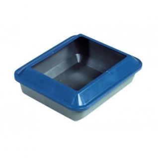 Hagen Туалет для кошек с бортиком (средний), темно-синий/ серый
