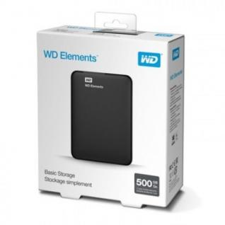 Портативный HDD WD Elements Portable 500Gb 2.5, USB 3.0, WDBMTM5000ABK-EEUE
