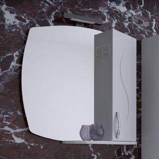 Зеркало Грета 80 (Белый) ASB-Woodline