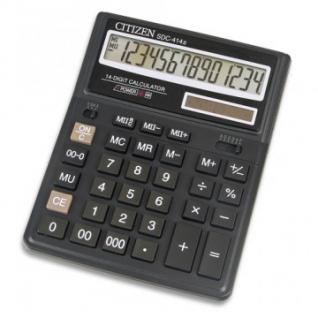 Калькулятор настольный ПОЛНОРАЗМЕРНЫЙ CITIZEN бухг. SDC-414 N 14 разряд.DP