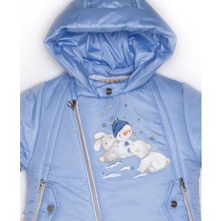Комплект MalekBaby (Куртка + Полукомбинезон), Без опушки, Голубой арт.412ШМ