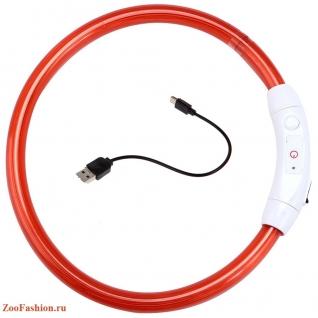 Светящийся ошейник для собак с USB зарядкой ( )