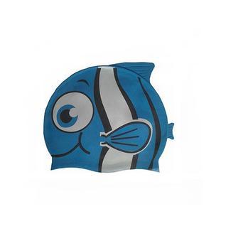 """Шапочка для плавания силиконовая Dobest """"рыбка"""" Ys10 (синяя)"""