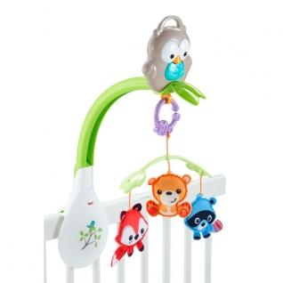 """Мобили для малышей Mattel Fisher-Price Mattel Fisher-Price CDM84 Музыкальный мобиль 3-в-1 """"Лесные друзья"""""""
