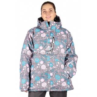 Куртка горнолыжная женская большого размера 14111